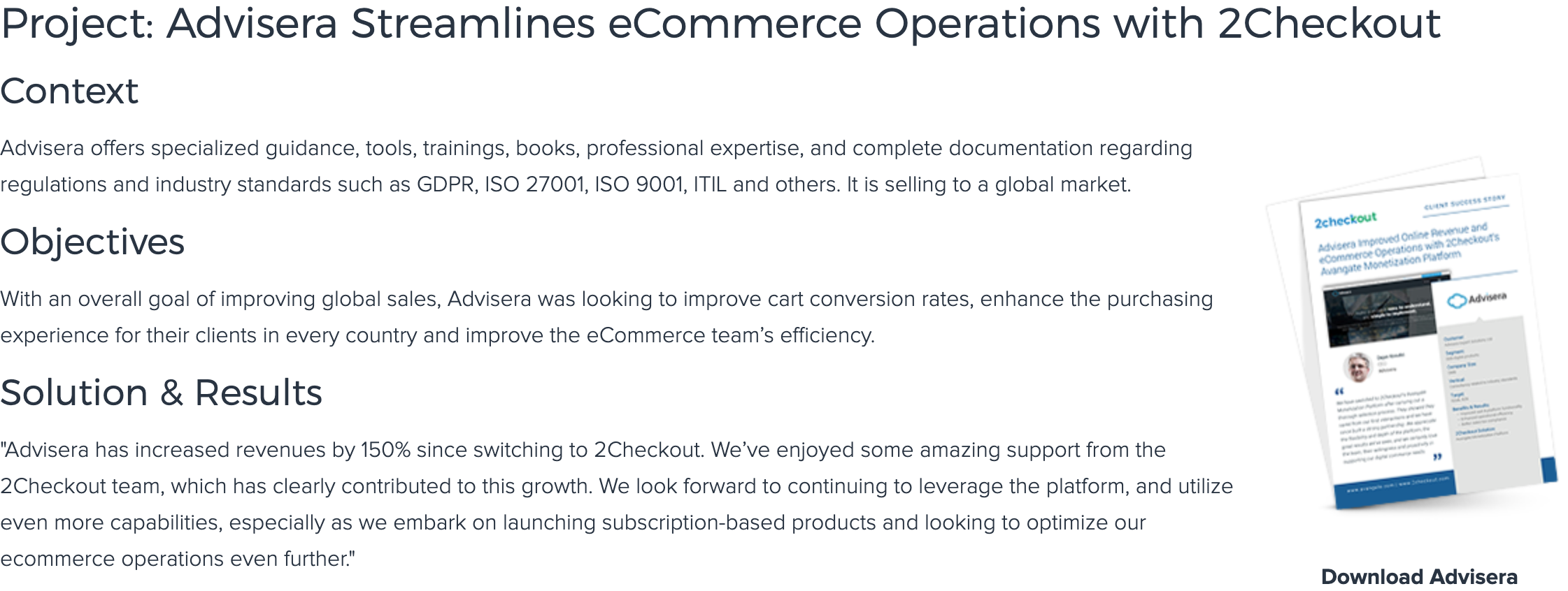 2Checkout Case Study